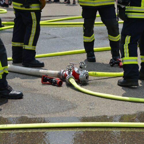 Praktischer Einstellungstest der Feuerwehr